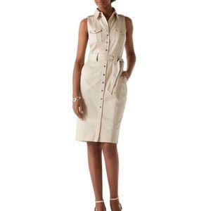 White House Black Market Safari Shirt Dress 0 NWT